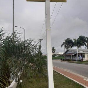 Straatbord met de naam Coronastraat langs een weg